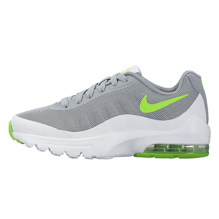 newest classic style crazy price NIKE AIR MAX INVIGOR 749572-007 GRIS LOUP/VERT ELECTRIQUE - Achat ...