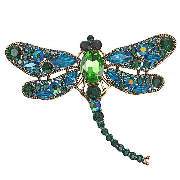 Broche libellule Mignonne Accessoires de Vetements Broches Alliage en email Cadeaux danniversaire Bijoux