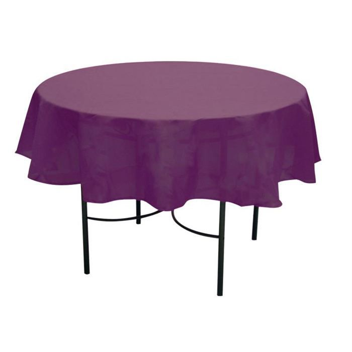 nappe anti taches ronde 180 cm alix prune achat vente nappe de table cdiscount. Black Bedroom Furniture Sets. Home Design Ideas