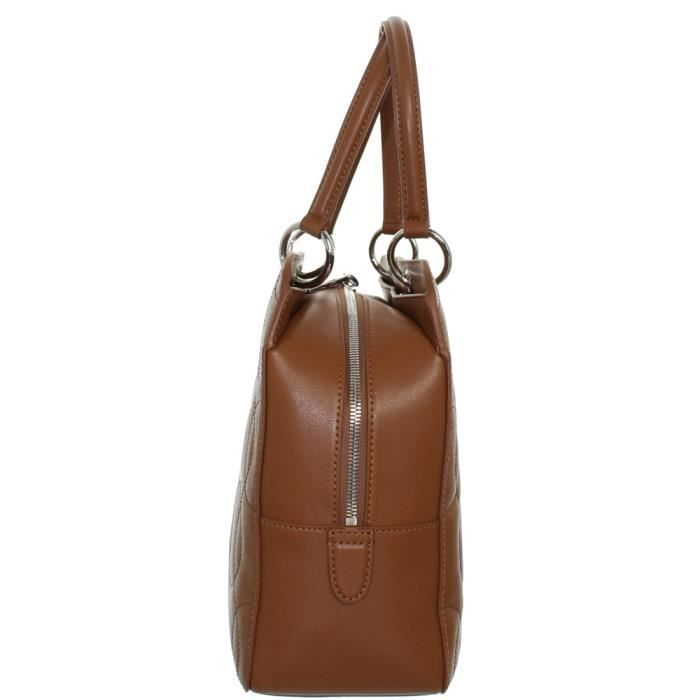 Sac à main Boston Lacoste Medium shopping Bag en cuir ref_cem40128-859-marron Marron