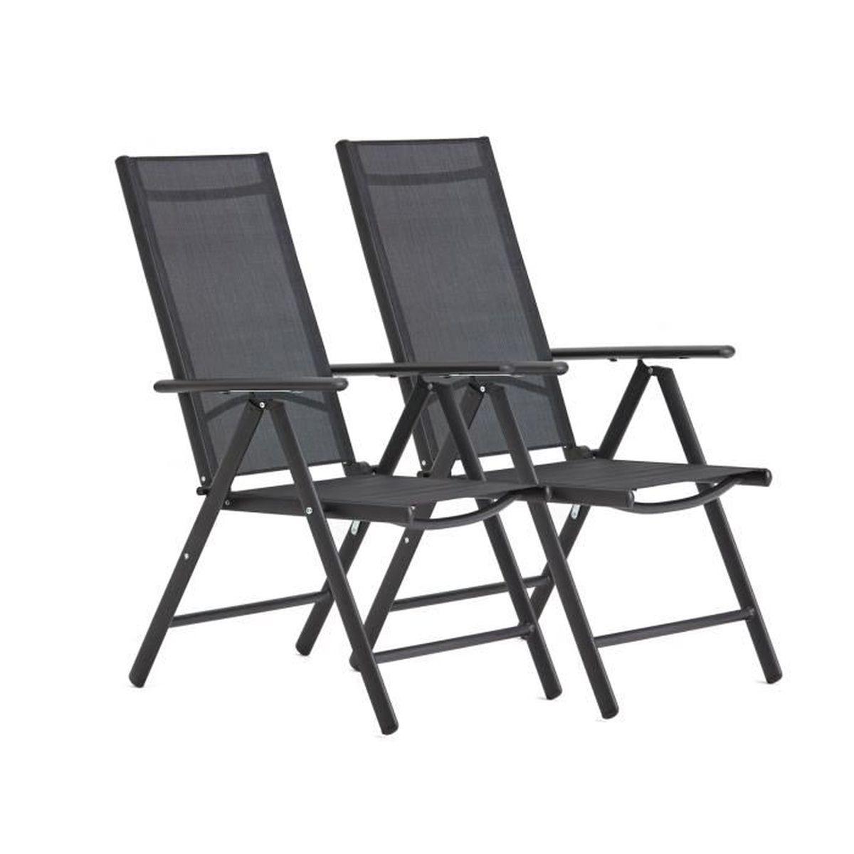 2x Chaise De Camping Jardin Plage balcon extérieur pliante Chaise pliante chaise Angel