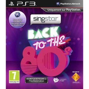 JEU PS3 Singstar Back To The 80's - Jeu PS3