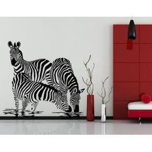 Deco Soon Stickers Zebre 100x104 Cm Achat Vente Stickers