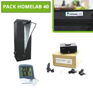 Eclairage horticole Pack HomeLAB - SpectraPANEL X160 - Thermomètre Hyd