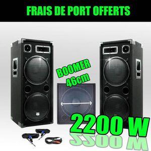 PACK SONO Pack 18212 Sonorisation 2200W Caisson bi-amplifié