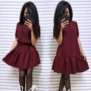 ROBE Femme Robe Vintage Partie Casual Manches Courtes O