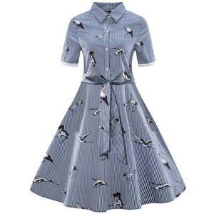 ROBE Grande taille Femme Robe Vintage Années 50 Impress