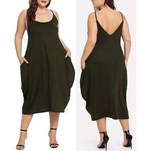 ROBE Femmes Mode Robe longue dos nu coupe-bas manches e
