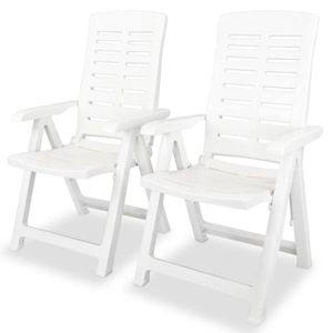FAUTEUIL JARDIN  Chaise inclinable de jardin Sièges d'extérieur 2 p