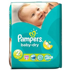 COUCHE PAMPERS - Couches Bébé - Baby Dry Taille 2 x27