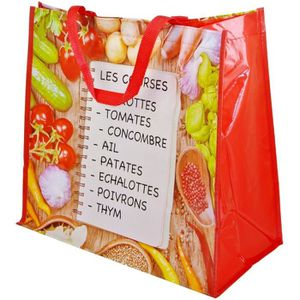 SAC SHOPPING Sac Cabas Shopping Liste De Courses Magasin Salade