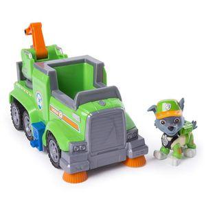 FIGURINE - PERSONNAGE PAT PATROUILLE Véhicule Camion de recyclage de Roc