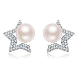 Boucle d'oreille Boucles d'oreilles Perles Femme Argent Sterling Bl