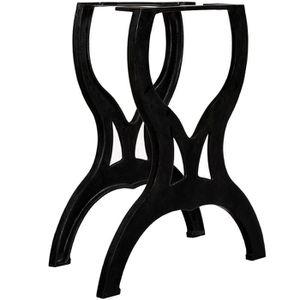 TABLE À MANGER SEULE vidaXL Pied de table de salle à manger 2 pcs Cadr