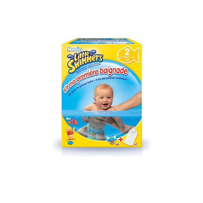 Huggies little swimmers kit blanc blanc achat vente for Pampers couche piscine