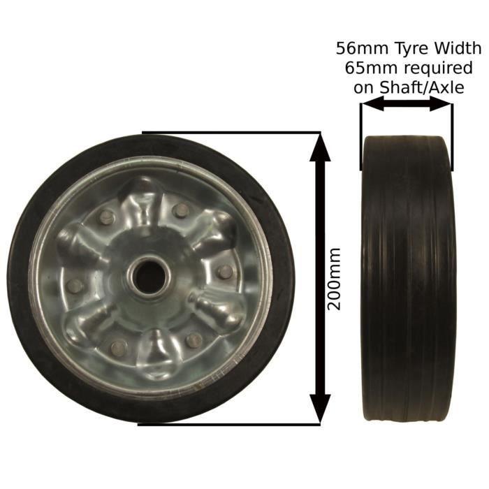 Heavy Duty Jockey remplacement roue jockey Remorque 200mm TR029