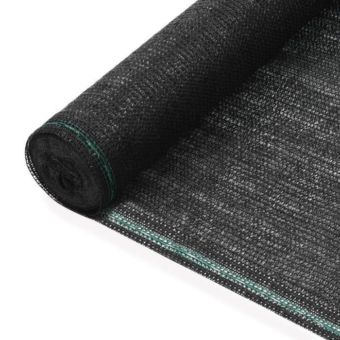 ��1081Magnifique parfait- Clôture de tennis - Brise Vue renforcé pour Balcon Jardin Protection-PEHD 1,2 x 50 m Noir