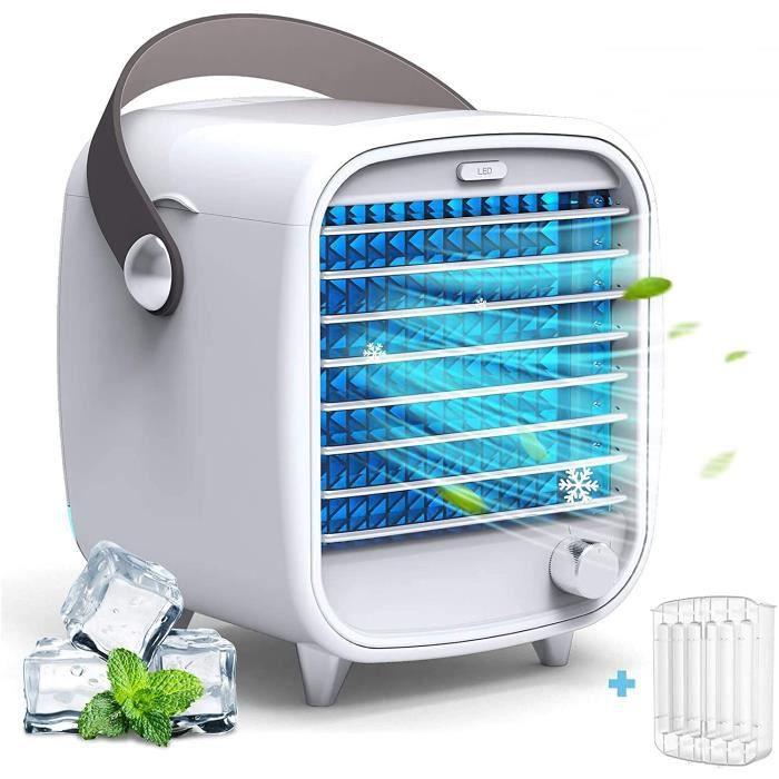 Citizili Climatiseur portable silencieux, climatiseur mobile, mini refroidisseur d'air, petit climatiseur, ventilateur pour maison