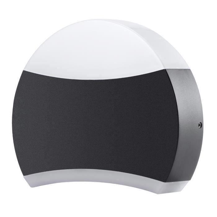 lampe LED Hublot Semi-circulaire Plafonnier Applique Éclairage Luminaire ,12W 2900-3100K ,Pour l'Intérieur et l'Extérieur