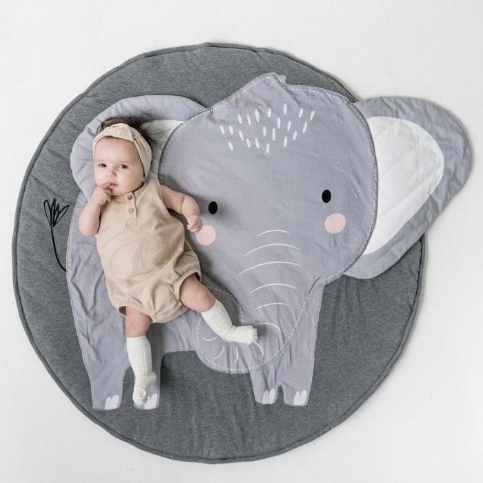 Tapis d'éveil,Tapis de jeu rond girafe lapin Tapis épais en coton pour bébés, tapis rampant pour bébés, tapis de - Type giraffe