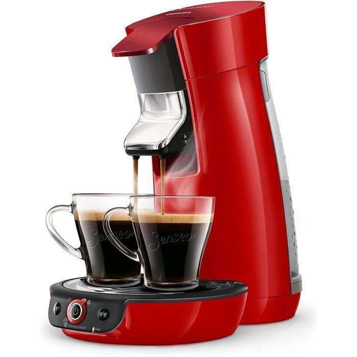 Philips HD6564/Philips HD6564/81 Machine à café à dosettes81 Machine à café à dosettes SENSEO Viva Café Duo Select Rouge Scintillant