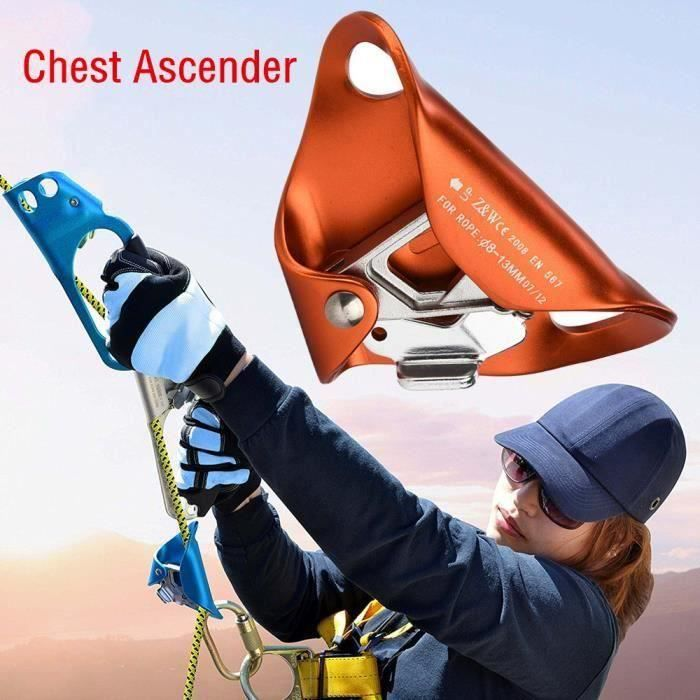 Matériel d'escalade Escalade poitrine Ascender abdominale pour la tension d'escalade corde verticale