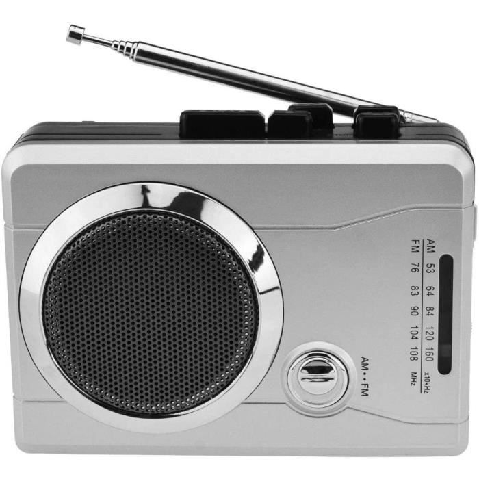 ZXCV AM/FM Pocket Radio Cassette Player, Portable Personal Voice Audio Cassette Recorder Walkman Player Built-in Speaker