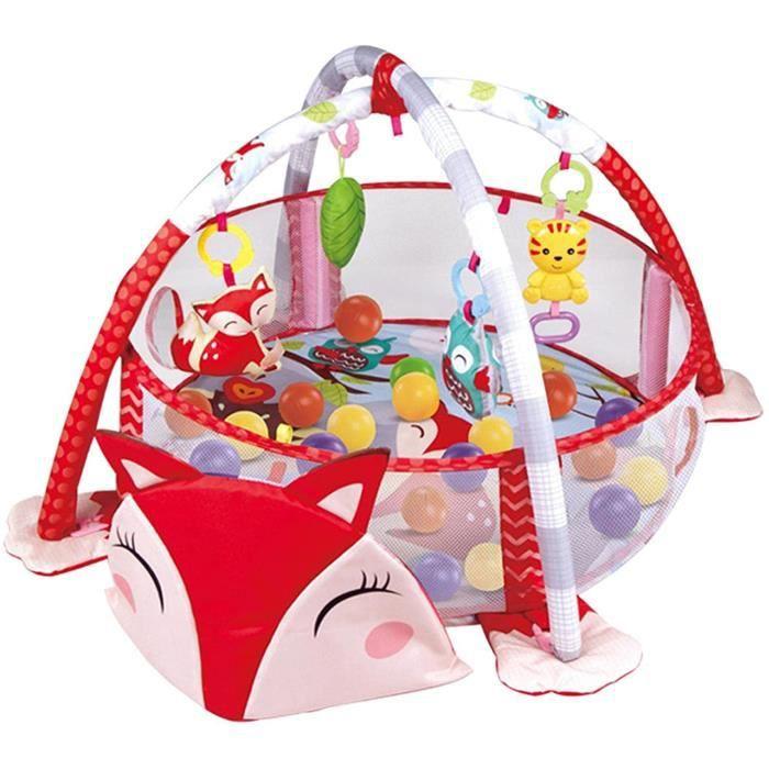 Tapis D Eveil pour Bébé avec Filets De ProtectionTapis De Jeu Pliable Arche De Jeu Centre D'activités De Jeu pour Bébé avec 4 456
