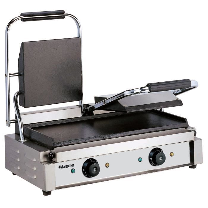 Grill contact double, plaques lisses