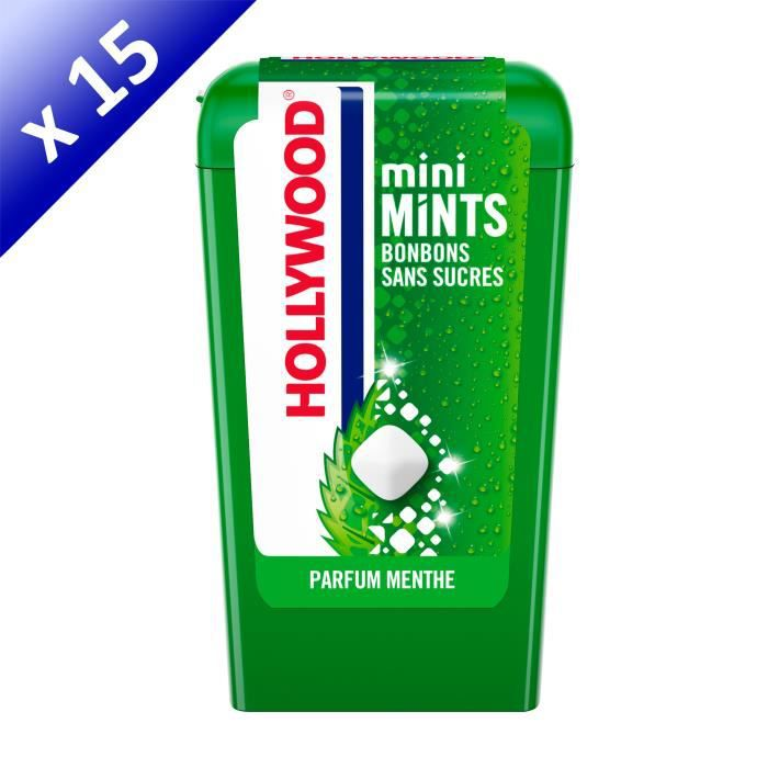 [LOT DE 15] Hollywood Mini Mints parfum Menthe 12,5g