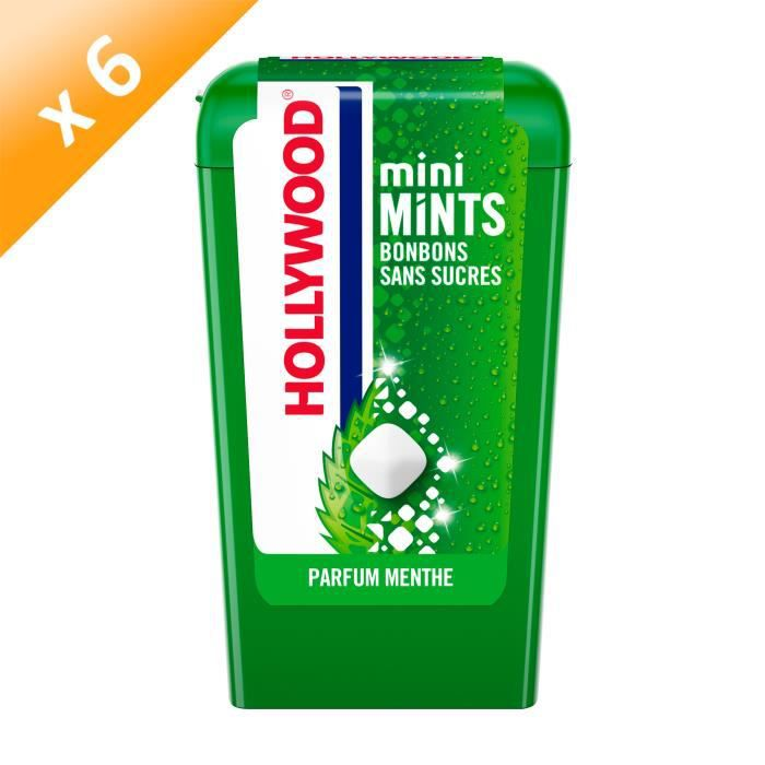 Hollywood Mini Mints parfum Menthe 12,5g - LOT DE 6