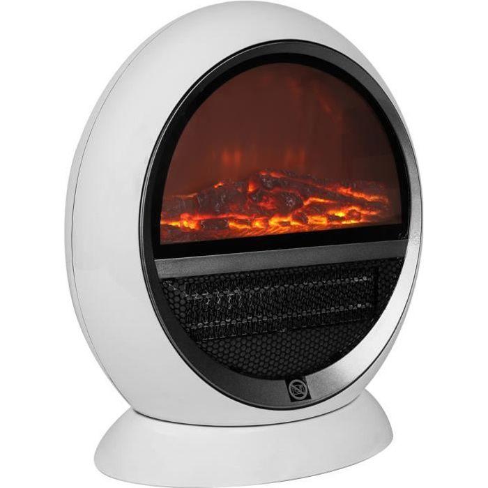 Radiateur électrique - effet feu de cheminée • 1500 W / 30m² • protection contre la surchauffe - Mini-cheminée, chauffage d´appoint