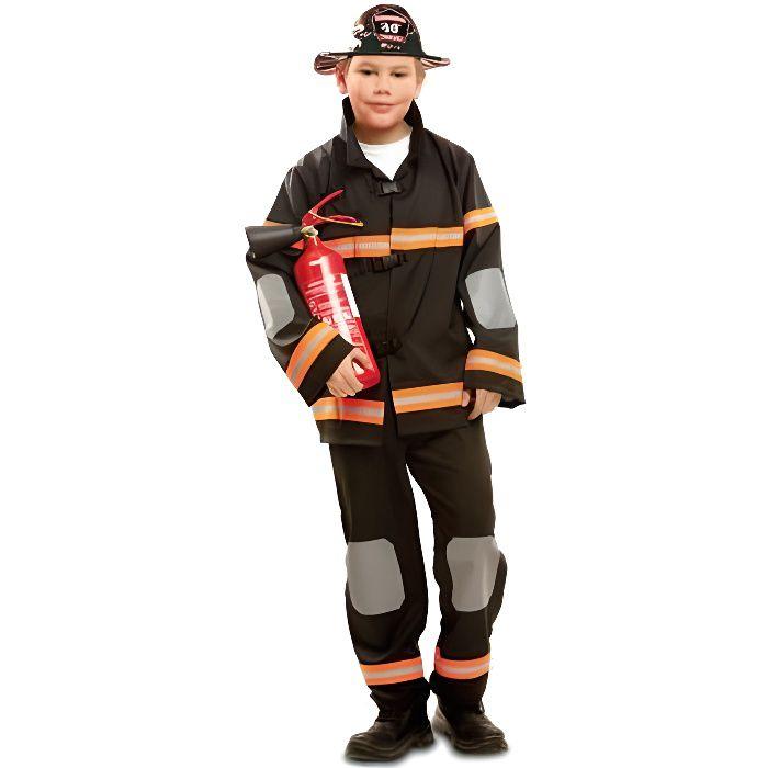MY OTHER ME FUN COMPANY, SL. Déguisement Pompier Noir enfant. 10 ans. Enfant