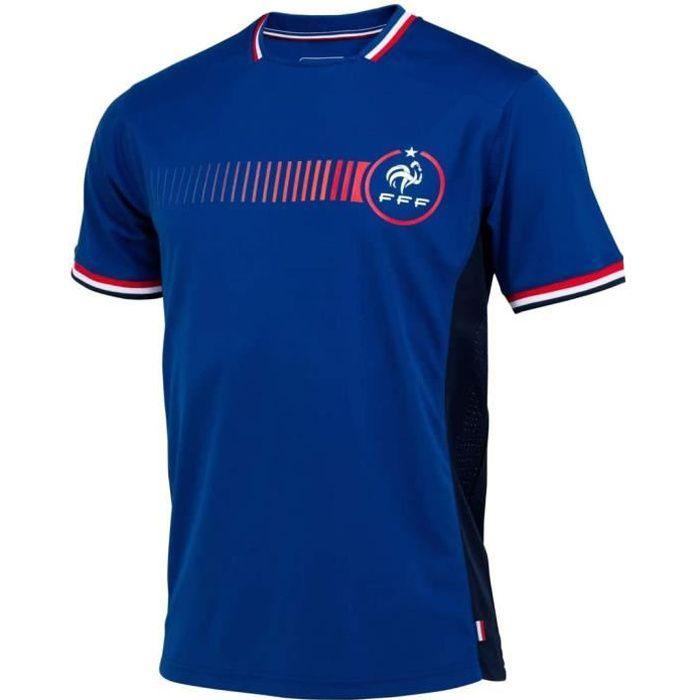 Tee-Shirt Equipe De France FFF Poly Licence Officielle Bleu.Taille M