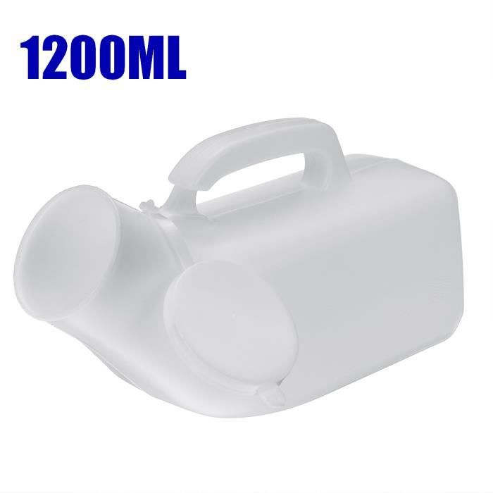 1200mL Portable Adulte Urinoir Pot Urinal Entonnoir Extérieur Voyage Camping Randonnée Pour Homme -BLANC