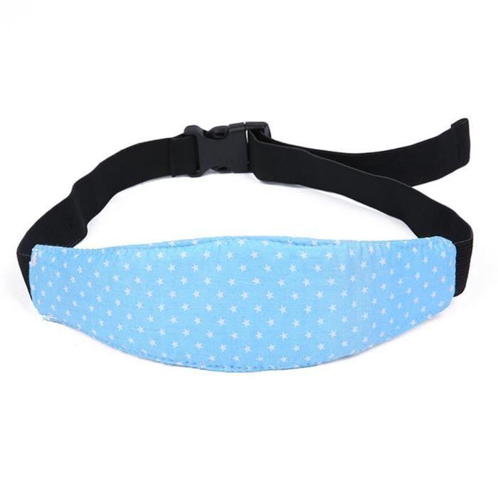 Sangle de sécurité en coton doux et antichute pour poussette pour bébé bleu