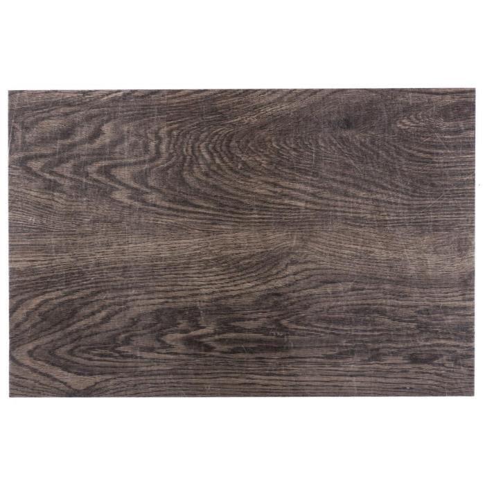 Secret de Gourmet - Lot de 6 sets de table aspect bois 45X30 L, 30 x l, 45 cm Unique