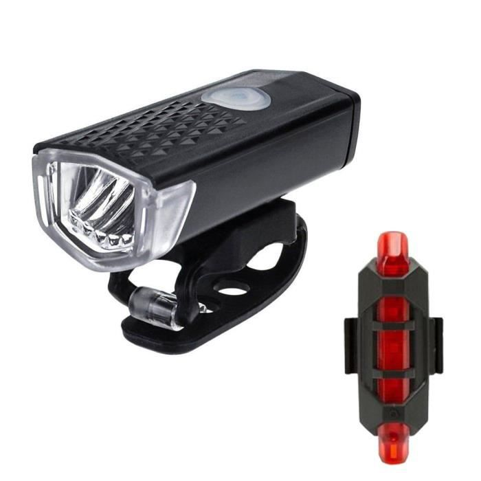 Bike Light Vélo Zoom avant DEL Lampe de poche lampe rechargeable USB Cyclisme
