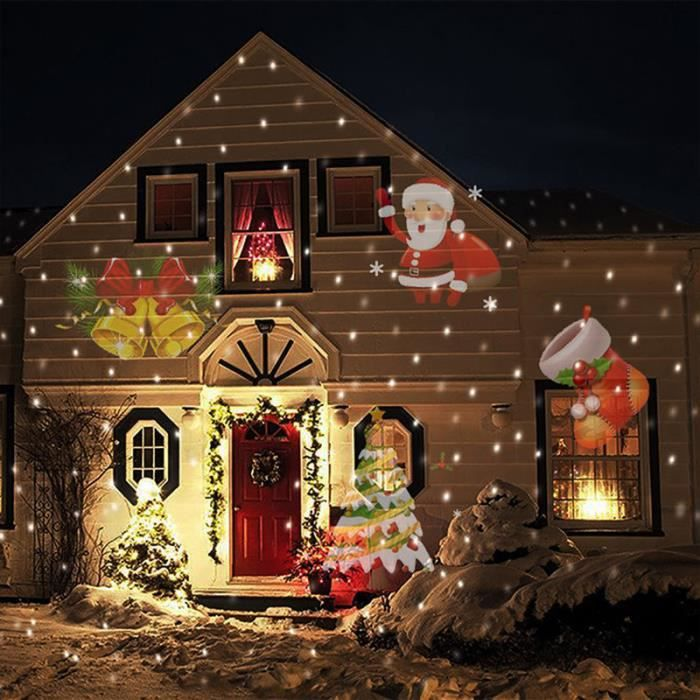 projecteur dcoration nol avec 12 dessins interc - Decorations De Noel Exterieures