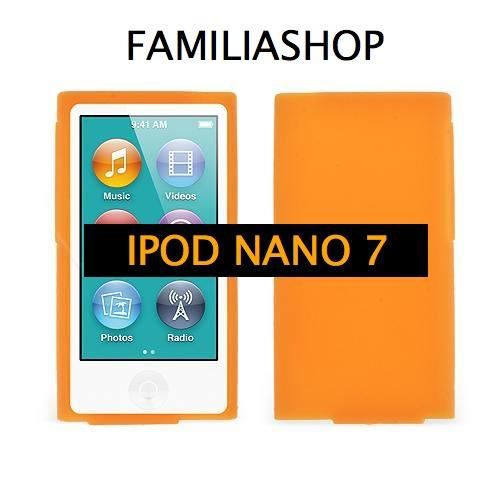 Housse etui coque silicone orange ipod nano 7g achat for Housse ipod nano