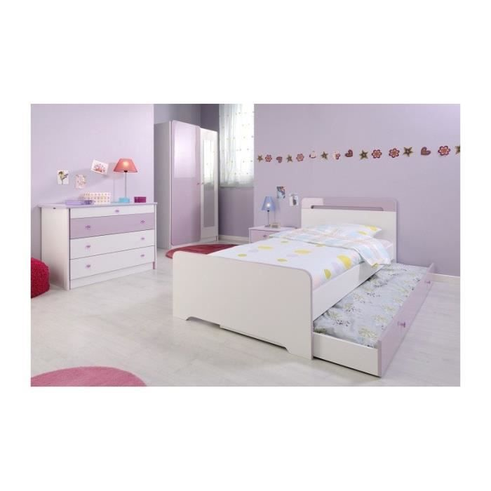 Chambre fille 4 pi ces miss blanche et rose achat for Chambre adulte fille