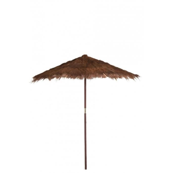 grand parasol feuille de cocotier marron 250x250x270cm. Black Bedroom Furniture Sets. Home Design Ideas
