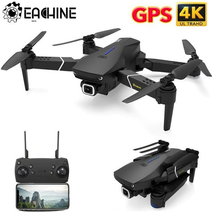 DRONE Eachine E520S - GPS WIFI - RC Drone FPV - 4K HD Ca