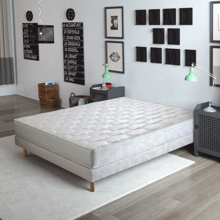 finlandek kev t ensemble matelas sommier kev t 160x200cm 20cm ressorts ensach s confort. Black Bedroom Furniture Sets. Home Design Ideas