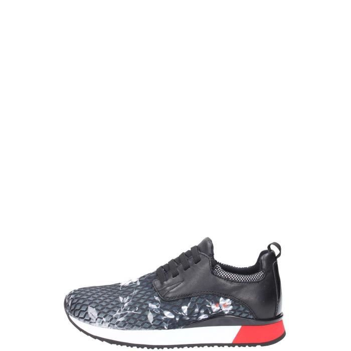 Crime London Sneakers Femme Flower Black
