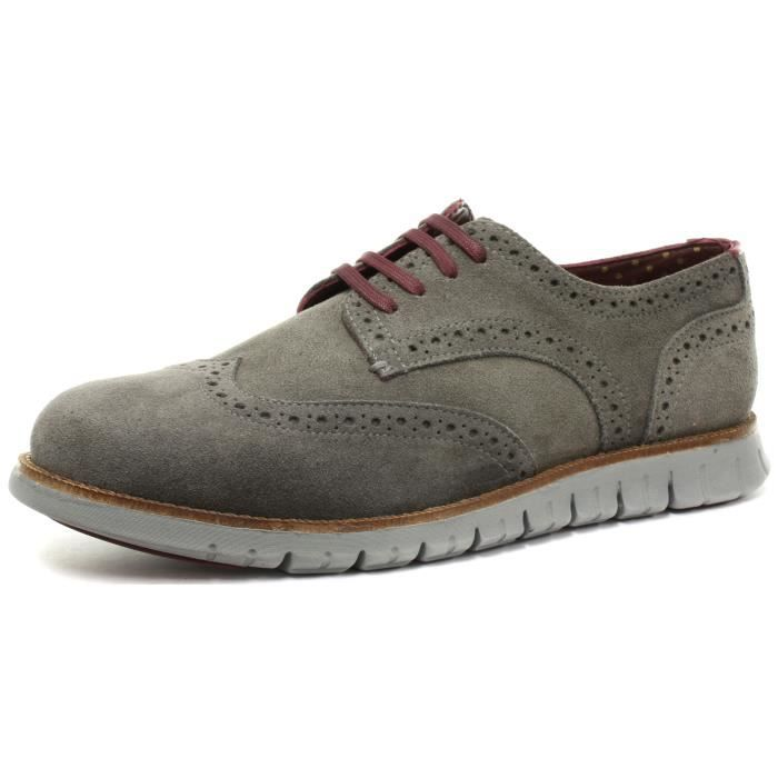 London Brogue richelieus Gatz Homme Suède Derby...