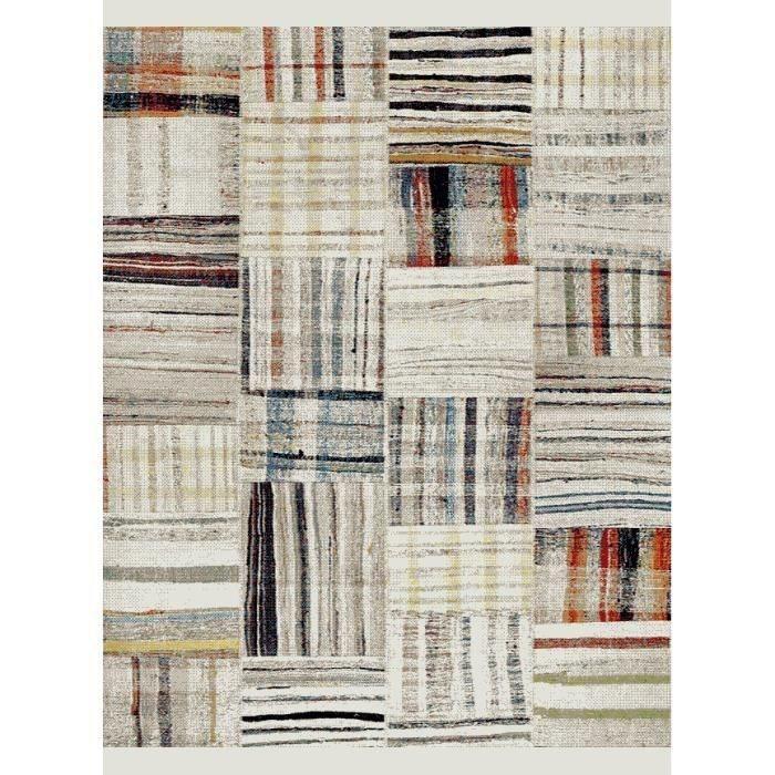 TAPIS MAROKKO Tapis de salon 120x170 cm - Blanc