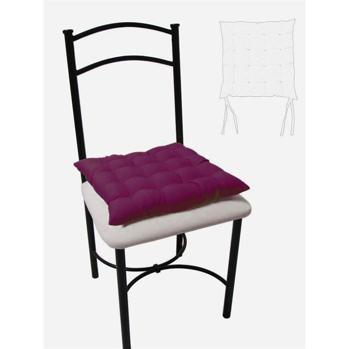 dessus de chaise capitonne 40x40 cm alix prune achat vente coussin de chaise cdiscount. Black Bedroom Furniture Sets. Home Design Ideas