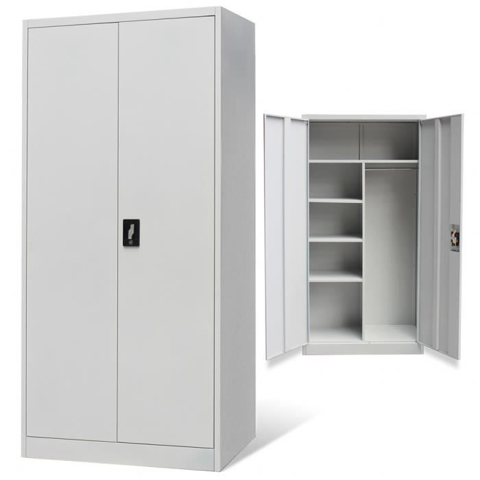 armoire vestiaire 2 portes achat vente armoire. Black Bedroom Furniture Sets. Home Design Ideas