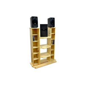 meuble hifi vid o bois achat vente meuble tv meuble. Black Bedroom Furniture Sets. Home Design Ideas